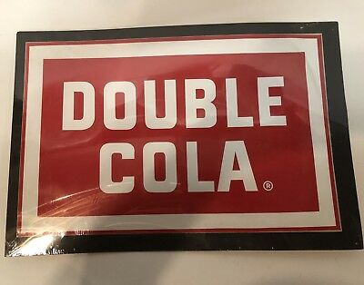 Vintage Double Cola Decal New Old Stock NOS
