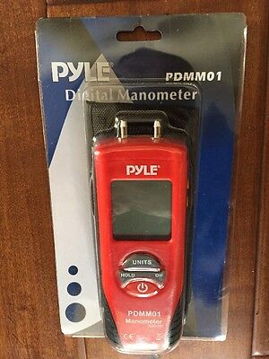 Pyle PDMM01 Handheld 11-Mode Digital Gas Pressure Meter Liquid Manometer ** NEW