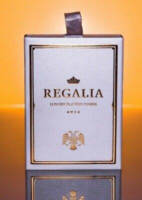 Shin Lim Regalia Playing Cards, Limited Edition Luxury Deck, New, Sealed, White