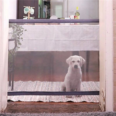 Mesh Magic Pet Dog Gate Barrier Safe Guar d& Install  Pet Safety Enclosure xxx