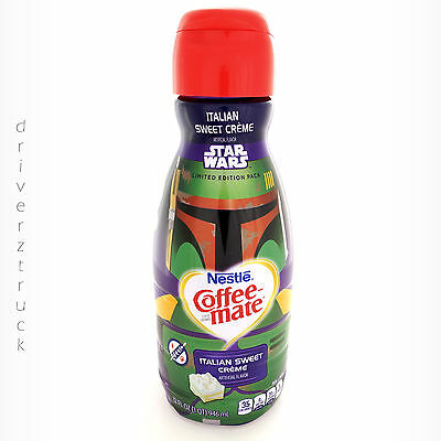 COFFEE MATE Collectible STAR WARS Limited Edition Pack BOBA FETT Empty Bottle