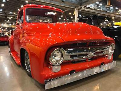 1955 Ford F-100 fuel injected resto mod show truck RESTORED F-100 SHORT BOX RESTO MOD. VINTAGE AC AND HEAT, 4 WHEEL DISC BRAKES