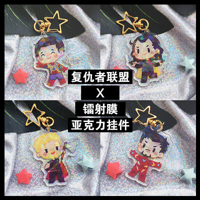 Marvel's The Avengers Steve Bucky Tony Loki Acrylic keychain Keyring Limit Be
