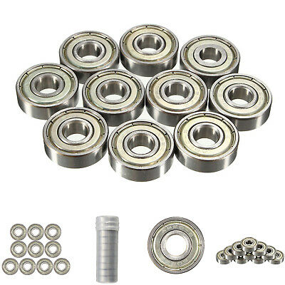 608zz Deep Groove Flanged Ball Bearing Carbon Steel 3D Printer Skateboard Roller