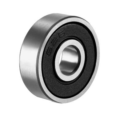 Deep Groove Ball Bearing 626RS Double Sealed, 6mm x 19mm x 6mm Chrome Steel