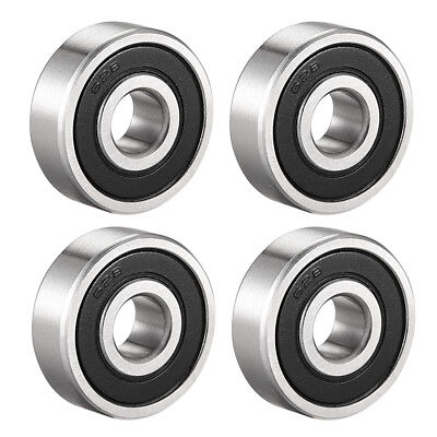 Deep Groove Ball Bearing 628RS Double Sealed, 8 x 24 x 8mm Chrome Steel, 4Pcs
