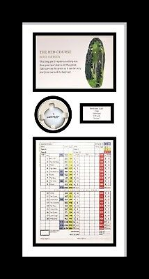 HOLE IN ONE!' Personalised Golf Photo frame White Mount