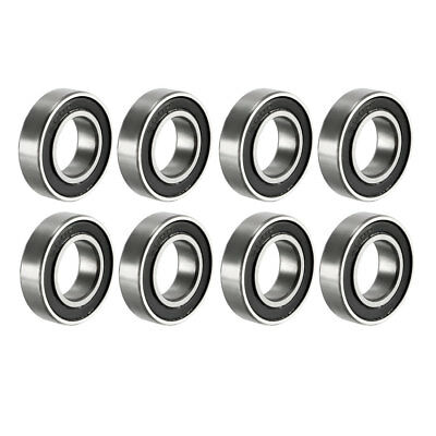 Deep Groove Ball Bearing 6800RS Double Sealed, 10mmx19mmx5mm Carbon Steel 8Pcs