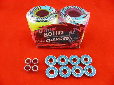 SPITFIRE 54mm/80HD CONICAL MASH UP CHARGERS -SKATEBOARD WHEELS+ ABEC 11'S