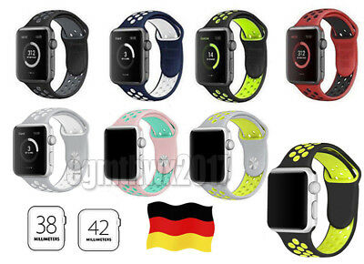 Silikon Ersatz Band Armband/Cover Case für I Watch Apple Watch  Series123 DE