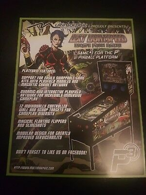 Multimorphic P3 Lexy Lightspeed Pinball ORIGINAL Promotional Advertising Flyer