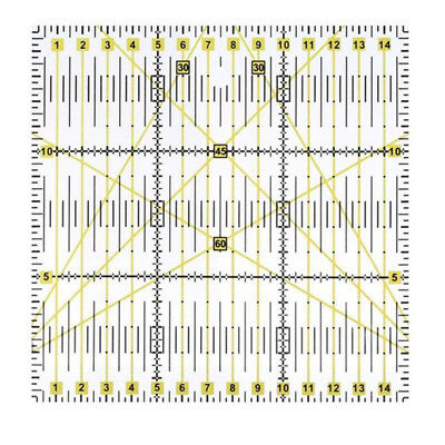Acrylic Material Patchwork Quilting Ruler (5.91 inch x5.91 inch,Yellow,transp P4