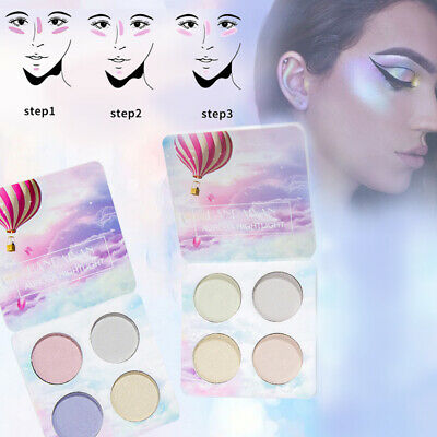 Shimmer Highlighter Palette Fard Ombre à Paupières Glitter Eyeshadow Maquillage