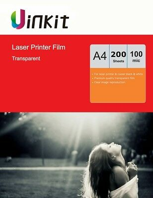 A4 OHP Film Overhead Project Film For Laser Printing Only Uinkit - 200 Sheets