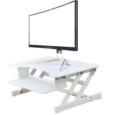 "Rocelco® Height Adjustable Standing Monitor Ergonomic Desk Riser, ADR 32"", White"