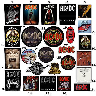 AC/DC Patch Embroidered Patches Iron Maiden Metallica Pantera ACDC Official
