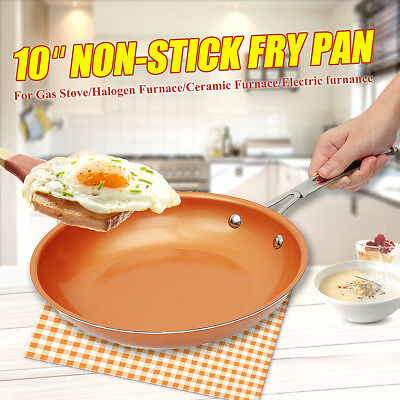 10'' Non-Stick Copper Frying Pan With Ceramic Coating + Induction Wear-Resistant