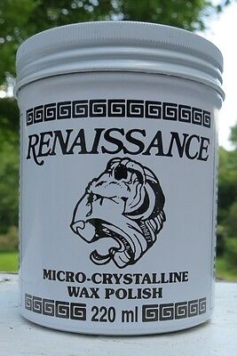 Renaissance Micro-Crystalline Wax Polish Used by British Museum, Queen Elizabeth