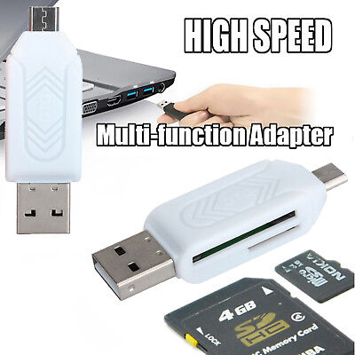 Micro USB OTG to USB 2.0 Adapter SD Card Reader For Android Phone Tablet PC