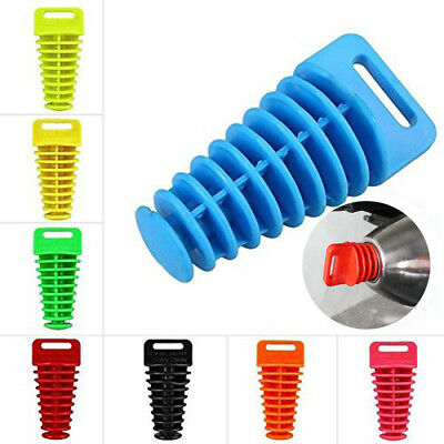 Motorcycle Exhaust Muffler Wash Plug Mute With Pipe Move Blow-Down Fit Silence