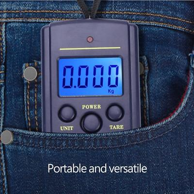 Max40kg Portable LCD Digital Fish Hanging Luggage Scale Travel Electronic Weigh