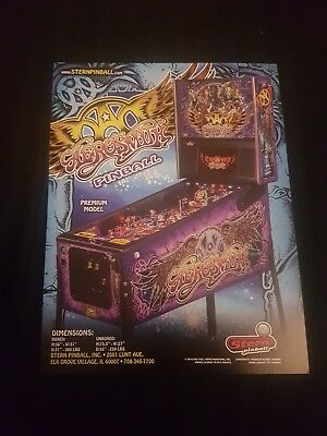 Aerosmith Premium Pinball ORIGINAL Promotional Advertising Flyer