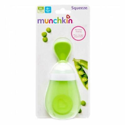 Munchkin Squeeze Spoon Green 1 2 3 6 12 Packs