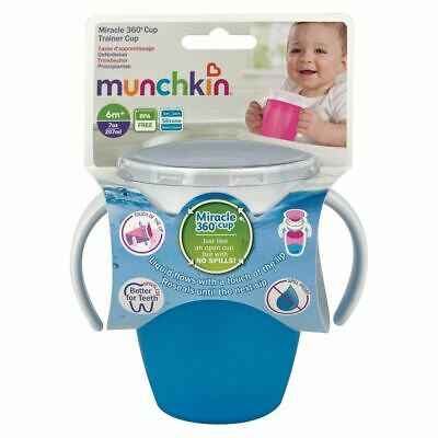 Munchkin Miracle 360 Trainer Cup Blue 207ml 1 2 3 6 12 Packs