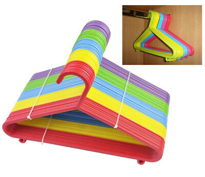 100 Kids Clothes Hangers Multicoloured Plastic For Baby Child Toddler Wardrobe
