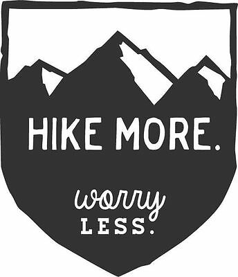 Hike More Worry Less Vinyl Decal Sticker