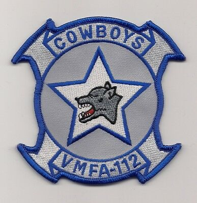 USMC VMFA-112 COWBOYS patch F/A-18 HORNET FIGHTER ATTACK SQN