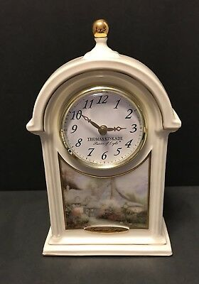 Thomas Kinkade Sweetheart Cottage Collectors Clock
