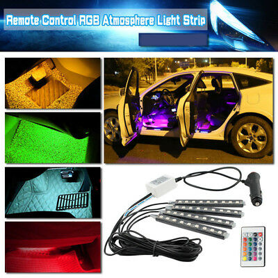 RGB Car LED Interior Strips Atmosphere Under dash Accent Light set for Nissan 4x
