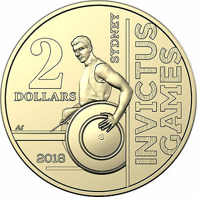 1 x $2 (two) dollar coin Invictus Games Sydney FREE STANDARD POSTAGE OR PICK UP