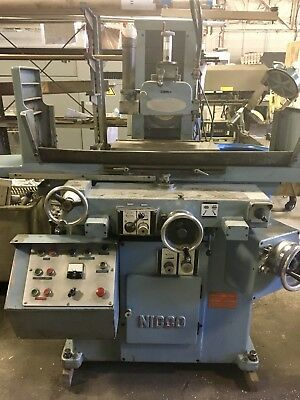 USED Nicco NSG -520 19.5x7.75 Reciprocating Surface Grinder w Magnetic Chuck