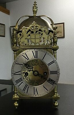 Antique Double Fusee Lantern Clock