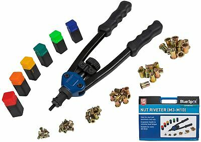 Bluespot Threaded Rivet Nut Setting Tool Riveter Gun Nutsert Riveting M4 - M10
