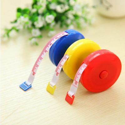 150CM/60inch Sewing Clothing Cloth Feet Retractable Soft Measure Tape Ruler