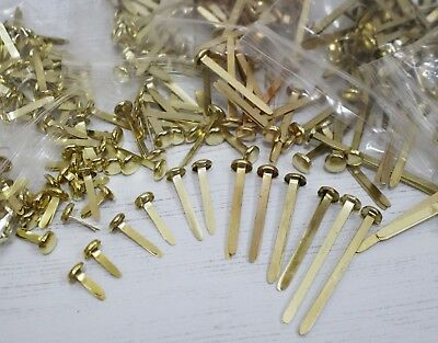 Paper Fasteners Brass Plated Split Butterfly Pin Clips 13 20 25 30 40 50mm Sizes