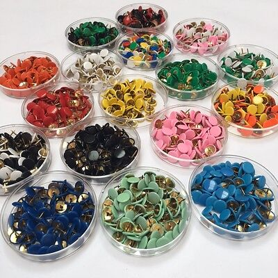 Coloured Drawing Pins 9.5mm Single Colours & Assorted Thumb Tacks x75