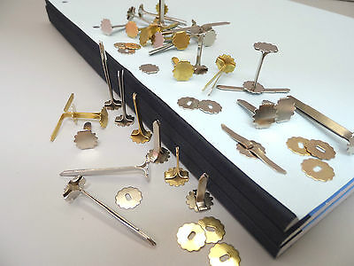 Paper Binders & Washers Large Head Fasteners in 5 Sizes Silver or Gold