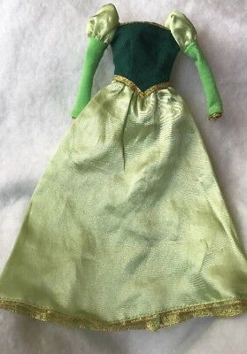 Disney Beauty And The Beast Princess Belle Doll Green Gold Library Dress