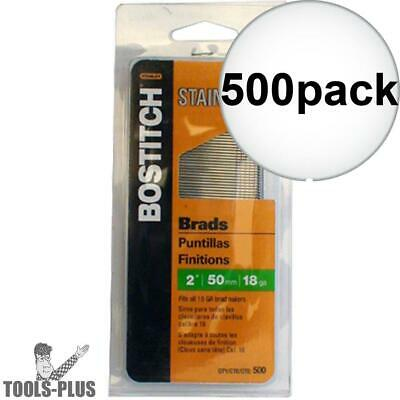 """Bostitch BT1350SS 500 Pack 2"""" 18 GA Stainless Steel Brad Nails New"""