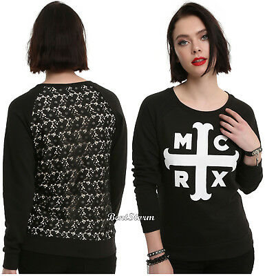 My Chemical Romance Cross Mcrx Lace Back Long Sleeve Band Sweater