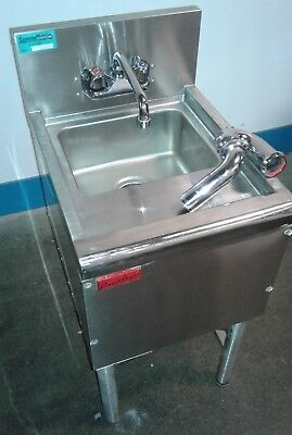 Commercial Single SS Under Bar Sink, Bar Hand Sink, Dump Station. Our #2