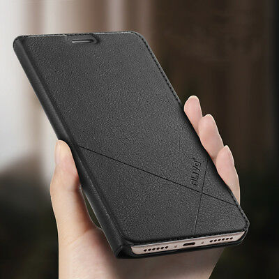 For Xiaomi Redmi S2 5A 6A 5 Plus Business Slim Leather Case Flip Wallet Cover