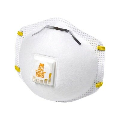 3M 8511 N95 Dust Particulate Respiratory Protection W/Valve - Various Quantities