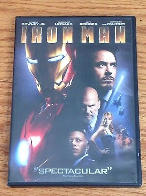 *TESTED* IRON MAN 2008 DVD Movie MARVEL Widescreen DOWNEY Solid Case PLAYS GREAT
