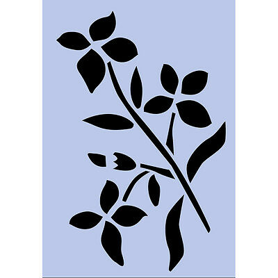 Chalk Paint Flowers Stencil A5 Re - Usable Shabby Chic Airbrush French Craft 71