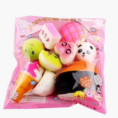 Anti Stress Squishy Keychain Mini Soft Squeeze Toys Children Pressure Kids Gifts